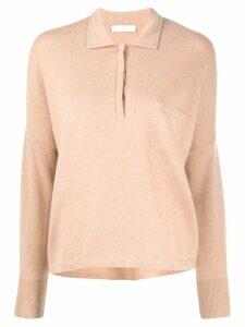 Fabiana Filippi knitted polo shirt - Neutrals