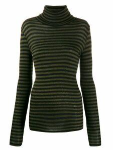 Closed roll neck sweatshirt - Black