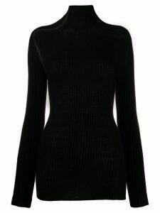 Victoria Beckham open knit details top - Black