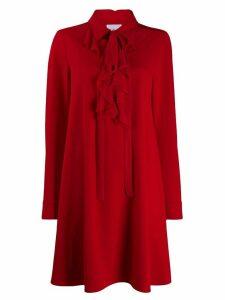 be blumarine ruffle neck dress - Red