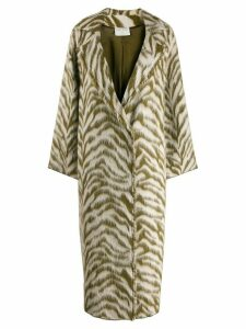 Forte Forte animal-print coat - Green