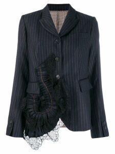 Antonio Marras ruffled detail blazer - Blue