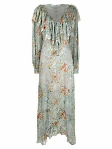 Preen By Thornton Bregazzi Iris long dress - Blue