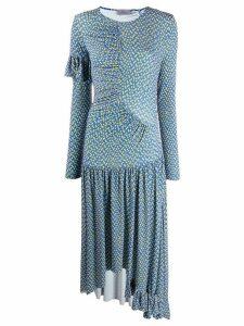 Preen By Thornton Bregazzi Ashley long dress - Blue