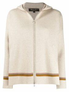 Loro Piana cashmere hooded zip cardigan - Neutrals