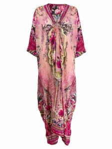 Camilla floral kaftan dress - PINK