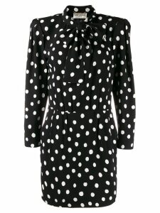 Saint Laurent polka dot mini dress - Black
