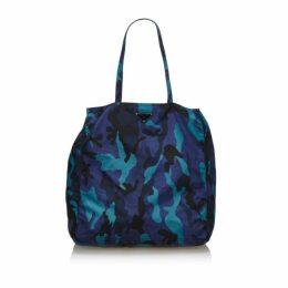 Prada Blue Nylon Camouflage Tote Bag