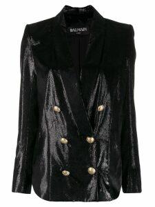 Balmain metallic double-breasted blazer - Black