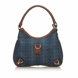 Gucci Blue Gg Canvas Abbey Shoulder Bag