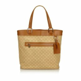 Louis Vuitton Brown Monogram Mini Lin Lucille Gm