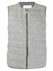 Fabiana Filippi zipped padded gilet - Grey