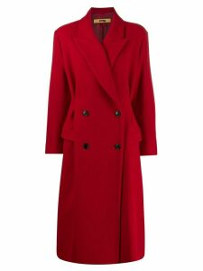 System oversized double-breasted coat - Red