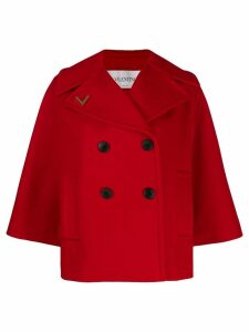 Valentino boxy-fit double-breasted jacket - Red