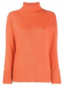 Lamberto Losani loose-fit turtleneck jumper - Orange