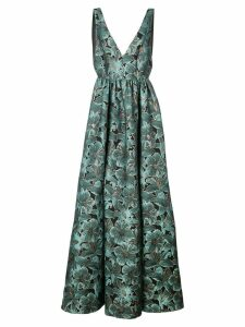 Zac Zac Posen gathered floral dress - Blue