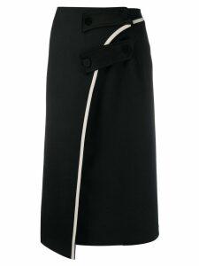 Ssheena asymmetrical midi skirt - Black