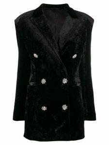 Attico double breasted tuxedo dress - Black