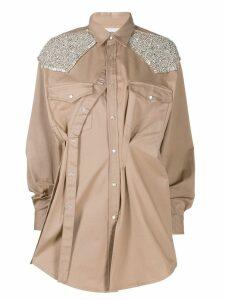 Circus Hotel embellished shirt dress - Neutrals