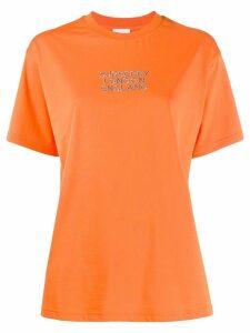 Burberry embroidered logo oversized T-shirt - Orange