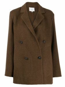 Vince double-breasted jacket - Brown