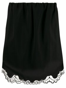 Nº21 embroidered tulle trim skirt - Black