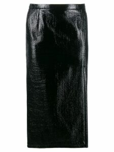 Nº21 crinkled-effect pencil skirt - Black