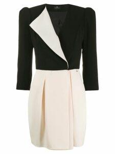 Elisabetta Franchi colour block mini dress - Black