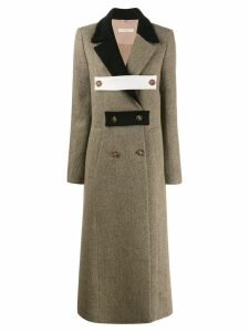 Ssheena double breasted multi-fasten coat - Neutrals