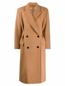 System oversized double-breasted coat - Brown