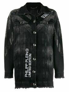 Philipp Plein Scarface denim jacket - Black