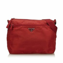 Prada Red Nylon Crossbody Bag