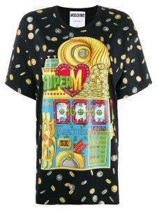 Moschino Slotmachine print T-shirt - Black