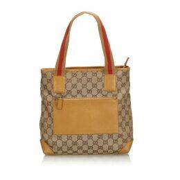 Gucci Brown Gg Canvas Web Shoulder Bag