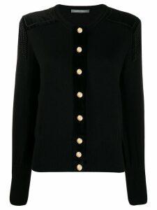 Alberta Ferretti oversized button cardigan - Black
