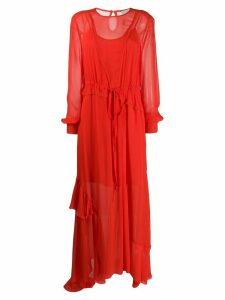 Preen Line Brea long dress - Red