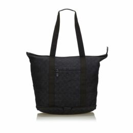 Gucci Black Gg Canvas Collapsible Tote Bag