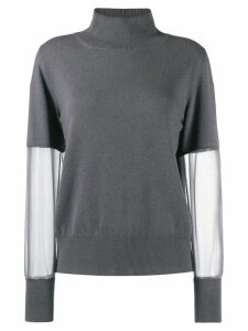 Fabiana Filippi sheer panel jumper - Grey