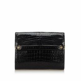 Gucci Black Patent Leather Clutch Bag