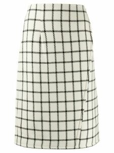 Gianluca Capannolo high waist check skirt - White