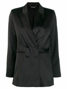 Styland double breasted blazer - Black