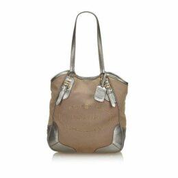 Prada Brown Canapa Canvas Tote Bag