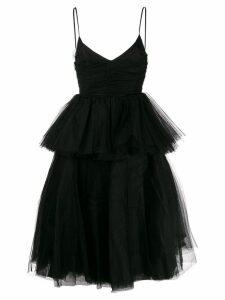 Brognano flared tulle dress - Black