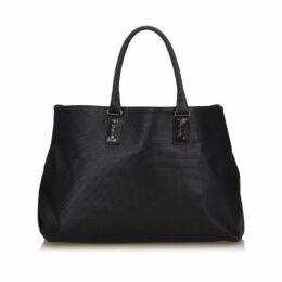 Bottega Veneta Black Marco Polo Tote Bag