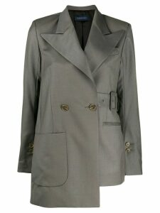Eudon Choi belted blazer - Grey