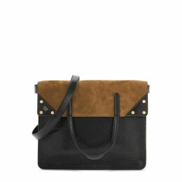 Fendi Fendi Flip Leather And Suede Shoulder Bag
