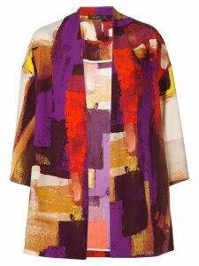 Natori printed kimono - Purple