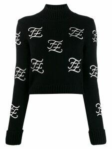 Fendi cropped pullover - Black