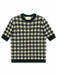 Gucci houndtooth knitted top - Black