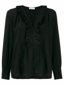 Sandro Paris long-sleeved ruffle blouse - Black